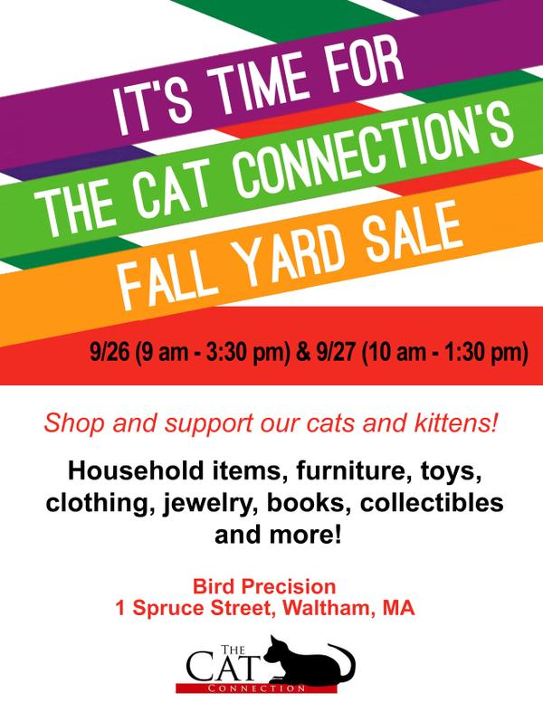 Cat Connection's Fall Yard Sale