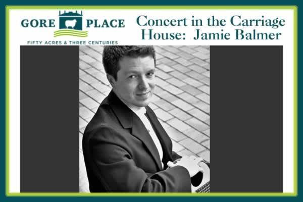 Gore Place Carriage House Concert: Jamie Balmer