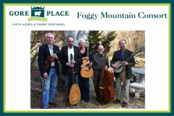 Gore Place Carriage House Concert: The Foggy Mountain Consort
