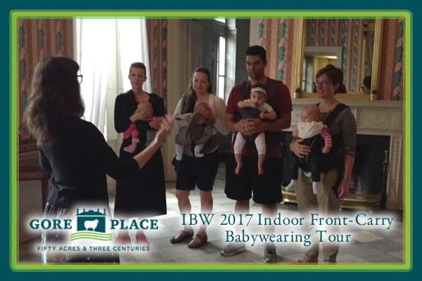 IBW 2017 Indoor Front-Carry Babywearing Tour at Gore Place