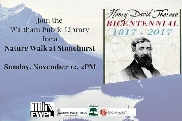 Henry David Thoreau Bicentennial Nature Walk at Stonehurst