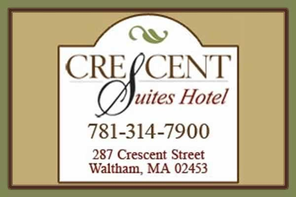 Crescent Suites Hotel, Waltham, MA. Located on the Charles River, close to Downtown Waltham and the famed restaurant row as well as 15 minutes from Boston.