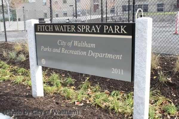 Waltham's Fitch Spray Park is located on the corner of Ash and Crescent Streets, Waltham. Photo courtesy City of Waltham.