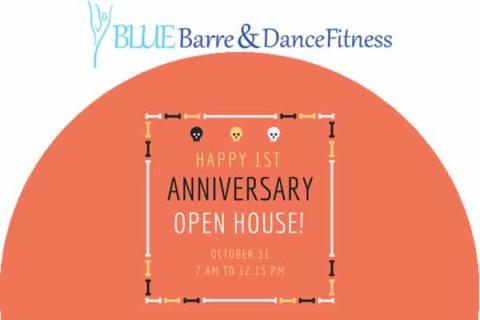 Blue Barre & Dance Fitness 1st Anniversary Open House w/ FREE Classes