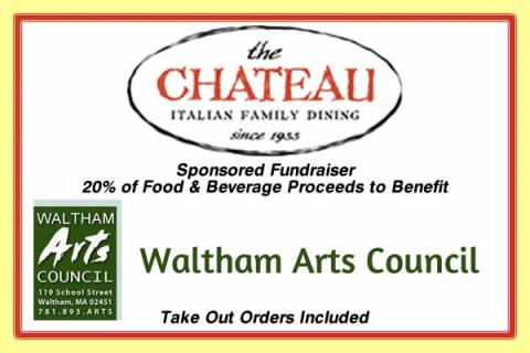Chateau Restaurant All Day Fundraiser for Waltham Arts Council
