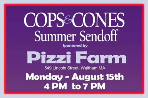 Cops & Cones Summer Send Off at Pizzi Farm