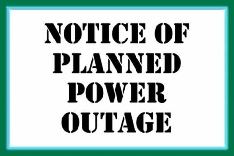 Eversource Planned Power Outage on Moody Street from Pine to Felton Streets