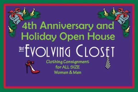 The Evolving Closet's 4th Anniversary & Holiday Open House