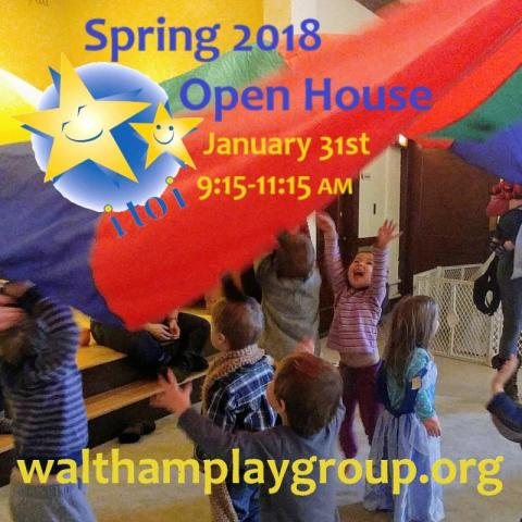 Spring 2018 Open House for Waltham's co-operative playgroup, Infancy to Independence