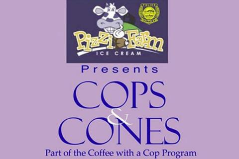 "Pizzi Farm ""Cops 'n Cones"" Event with Waltham Police Department"