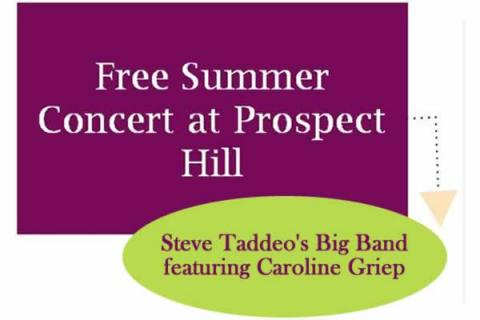 Free Concert at Prospect Hill with Steve Taddeo's Big Band