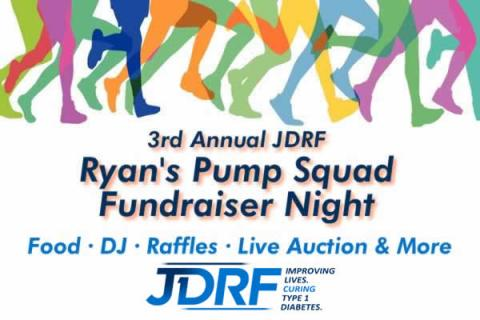 "3rd Annual""JDRF"" Ryan's Pump Squad Fundraiser Night"