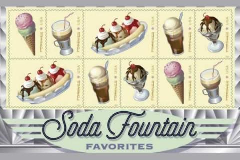 Pizzi Farm Ice Cream is honored to host the United States Post Office for the unveiling of the Soda Fountain Favorites Stamps