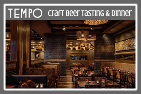 Tempo Craft Beer Tasting & Four Course Dinner