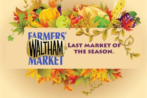Last day of the 2018 Season! Since 1991 Waltham Farmers Market has been offering locally grown produce and other items.