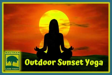 Waltham Land Trust Outdoor Sunset Yoga at Prospect Hill Park