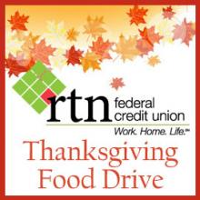 Thanksgiving Food Drive Kicks Off a Season of Giving at RTN Federal Credit Union