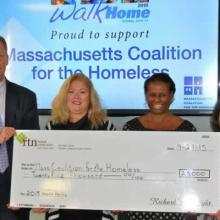 RTN Federal Credit Union Presents $25,000 to Mass. Coalition for Homeless