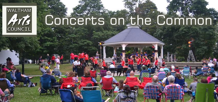 Waltham Arts Council 2018 Concerts on the Common: Tuesday evenings July 10 - August 28